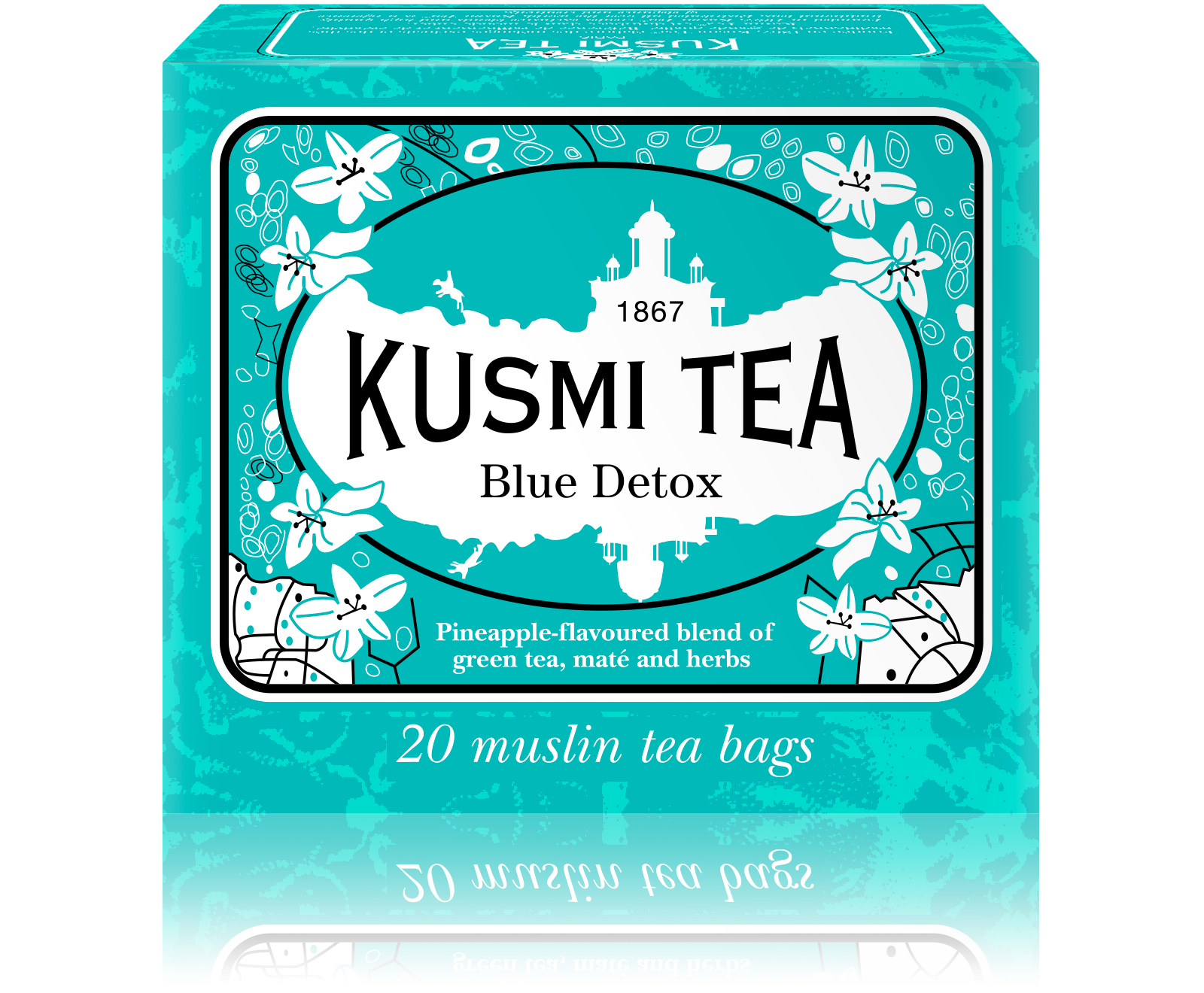 Blue Detox, tea blend in muslin tea bags (44 g)