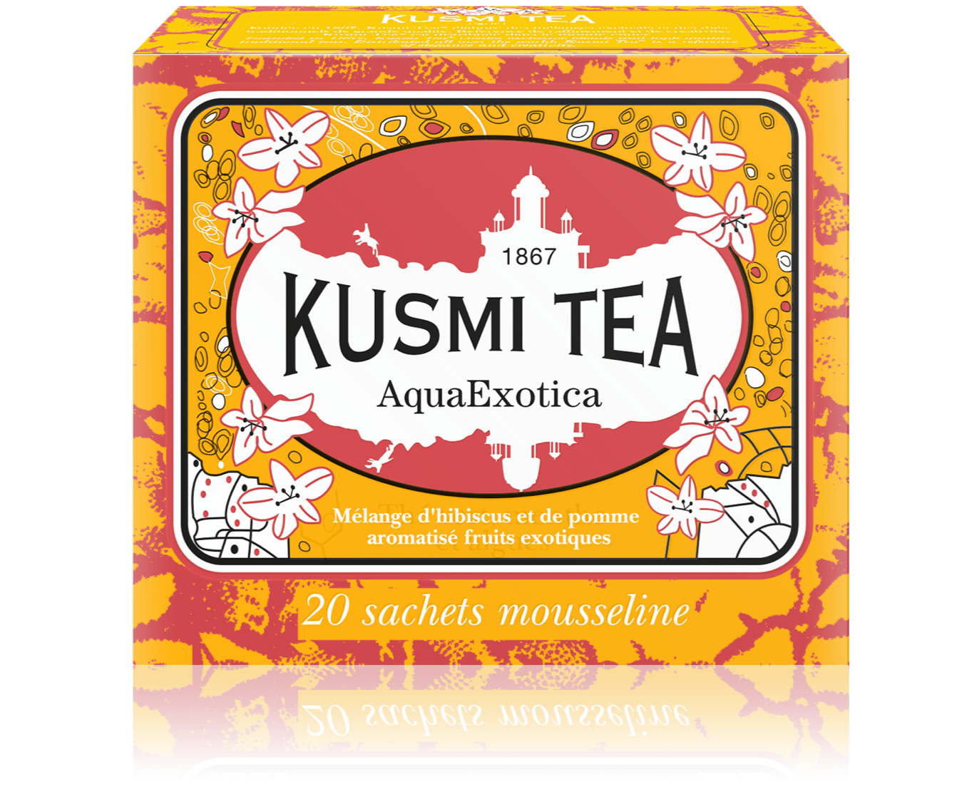 AquaExotica, fruit tea blend in muslin tea bags (44 g)